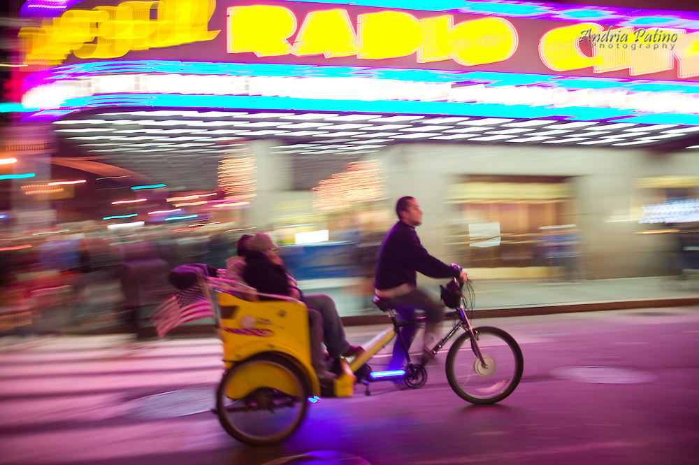 Pedicab Riding Pass Radio City Music Hall
