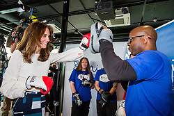 Cient: The Royal Foundation. Duchess of Cambridge visits The Olympic Park to promote the ' Heads Together ' campaign. Photo: David Poultney