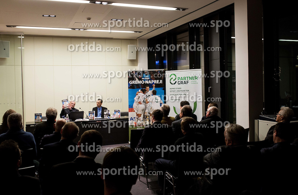 Ivo Gajic, author of the new book Gremo naprej! about Slovenian National football team in past 20 years at presentation prior to the traditional New Year Gala Night Reception of NZS - Football Association of Slovenia, on December 14, 2015 in Kongresni center, Brdo pri Kranju, Slovenia. Photo by Vid Ponikvar / Sportida