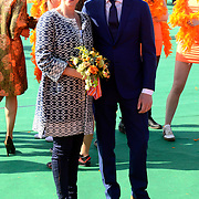 Koningsdag 2014 in de Rijp, het vieren van de verjaardag van de koning. / Kingsday 2014 in the Rijp , celebrating the birthday of the King. <br /> <br /> <br /> Op de foto / On the photo:   Prins Bernhard jr. en prinses Annette / Prince Bernhard and Princess Annette