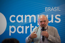 January 30, 2018 - Sao Paulo, Sao Paulo, Brazil - FRANCESCO FERRUGGIA, CEO of Campus Party Institute, participates in a press conference, at Anhembi Park, in Sao Paulo, Brazil. The Campus Party 2018  takes place until February 4, and should receive the visit of about 120 thousand people. (Credit Image: © Paulo Lopes via ZUMA Wire)
