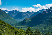 Talkeetna Mountains, near Independence Mine State Historic Park, 14 miles from Palmer, Alaska, USA.