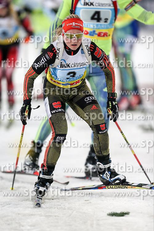 28.12.2015, Veltins Arena, Gelsenkirchen, GER, IBU Weltcup Biathlon, auf Schalke, im Bild Franziska Hildebrand (Deutschland/GER) // during the IBU Biathlon World Cup at Veltins Arena in Gelsenkirchen, Germany on 2015/12/28. EXPA Pictures &copy; 2015, PhotoCredit: EXPA/ Eibner-Pressefoto/ Kohring<br /> <br /> *****ATTENTION - OUT of GER*****