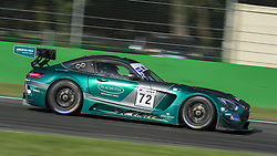 September 23, 2018 - Lechner Racing (Plachutta/Jaeger) at first chicane in Monza during the second qualifying session of International GT Open 2018. (Credit Image: © Riccardo Righetti/ZUMA Wire)