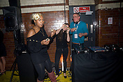 ABEANA ROBINSON; ANNIE WALSHAW; GILES DEACON, Sony BRAVIA World First - launch party. The Tramshed, 6-8 Garden Walk, Shoreditch London. 29 January 2009 *** Local Caption *** -DO NOT ARCHIVE-© Copyright Photograph by Dafydd Jones. 248 Clapham Rd. London SW9 0PZ. Tel 0207 820 0771. www.dafjones.com.<br /> ABEANA ROBINSON; ANNIE WALSHAW; GILES DEACON, Sony BRAVIA World First - launch party. The Tramshed, 6-8 Garden Walk, Shoreditch London. 29 January 2009