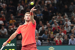 November 1, 2018 - Paris, France - BORNA CORIC of Croatia in his third round match in the Rolex Paris Masters tennis tournament in Paris France. (Credit Image: © Christopher Levy/ZUMA Wire)