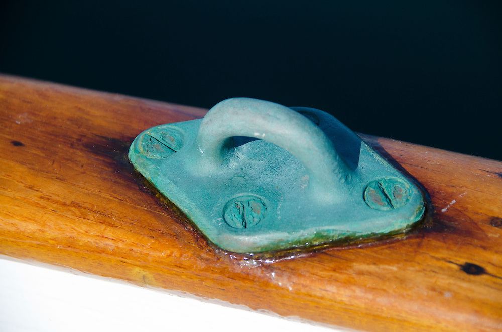 Cleat Detail, Orion, San Juan Islands, Washington, US