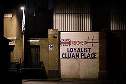 © Licensed to London News Pictures . 10/01/2013 . Belfast , UK . Loyalist mural painted on the wall of Cluan Place in East Belfast . On 3rd December 2012 , councillors voted to limit the number of days the Union flag would be flown above Belfast City Hall , sparking weeks of violence . Photo credit : Joel Goodman/LNP.