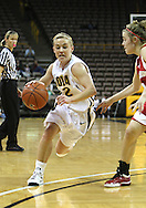 19 February 2009: Iowa guard Kamille Wahlin (2) drives inside during the first half of an NCAA women's college basketball game Thursday, February 19, 2009, at Carver-Hawkeye Arena in Iowa City, Iowa. Iowa defeated Wisconsin 72-65.