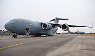 "UK PROVIDES LOGISTICAL AID TO FRENCH MALI OPERATION.Royal Air Force C-17 strategic transport aircrafts transport armoured vehicles and other military equipment to the Malian capital Bamako. .French forces are assisting the Government of Mali to contain rebel and extremist groups in the North of the country_16/01/2013.Mandatory Credit Photo: ©Traylor/NEWSPIX INTERNATIONAL..**ALL FEES PAYABLE TO: ""NEWSPIX INTERNATIONAL""**..IMMEDIATE CONFIRMATION OF USAGE REQUIRED:.Newspix International, 31 Chinnery Hill, Bishop's Stortford, ENGLAND CM23 3PS.Tel:+441279 324672  ; Fax: +441279656877.Mobile:  07775681153.e-mail: info@newspixinternational.co.uk"
