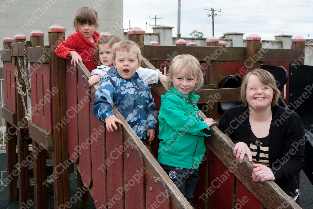 11/6/2012    Therese Ryan with Rachel(2), Saoirse(2), David(2) and Eoghan(3) at Nurture Creche.<br /> Photograph Liam Burke/Press 22