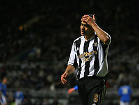 Photo: Andrew Unwin.<br /> Newcastle United v Birmingham City. The FA Cup. 17/01/2007.<br /> Newcastle's Kieron Dyer rues an opportunity that was ruled offside.
