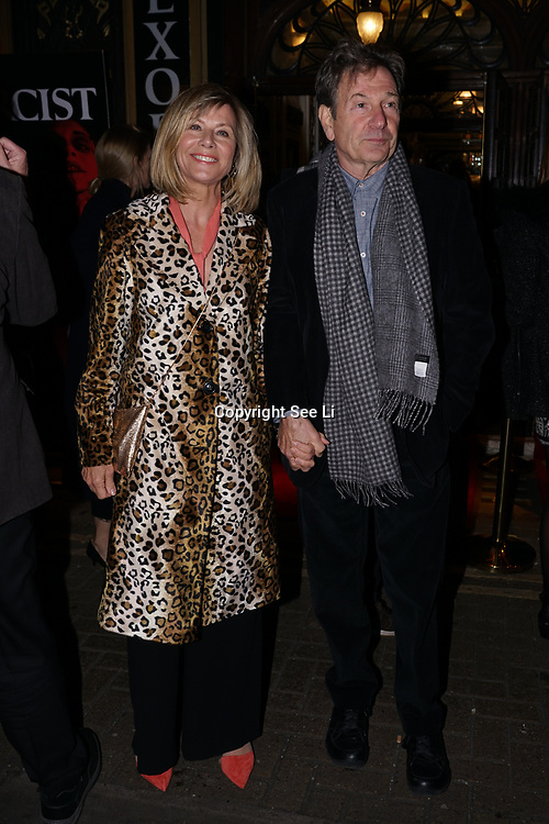 London, UK. 31st October 2017. Michael Brandon,Glynis Barber shows arrive to celebrate the West End premiere of The Exorcist, directed by Sean Mathias an opening night on Halloween at Phoenix Theatre.