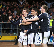 Dundee&rsquo;s Craig Wighton celebrates his derby winner  - Dundee v Dundee United, Ladbrokes Scottish Premiership at Dens Park<br /> <br /> <br />  - &copy; David Young - www.davidyoungphoto.co.uk - email: davidyoungphoto@gmail.com