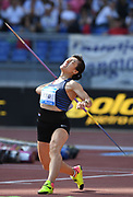Huihui Lu (CHN) wins the women's javelin at 218-1 (66.47m)during the 39th Golden Gala Pietro Menena in an IAAF Diamond League meet at Stadio Olimpico in Rome on Thursday, June 6, 2019. (Jiro Mochizuki/Image of Sport)