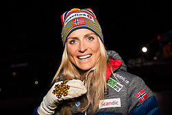 February 23, 2019 - Seefeld In Tirol, AUSTRIA - 190223 Gold medalist Therese Johaug of Norway poses for a picture at the medal ceremony for women's cross country skiing skiathlon during the FIS Nordic World Ski Championships on February 23, 2019 in Seefeld in Tirol..Photo: Joel Marklund / BILDBYRÃ…N / kod JM / 87887 (Credit Image: © Joel Marklund/Bildbyran via ZUMA Press)