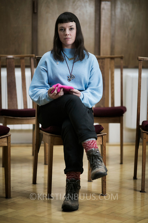 Lyndsay Burtonshaw of the Stansted 15. Photographed at the Quauker's Centre in Chelmsford.