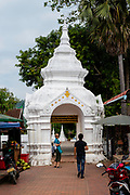 View of the entrance to Wat Xiengthong, Luang Prabang, Laos.