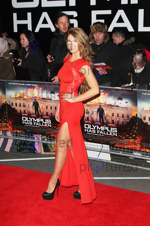 Amy Willerton, Olympus Has Fallen European Film Premiere, BFI IMAX, London UK, 03 April 2013, (Photo by Richard Goldschmidt)