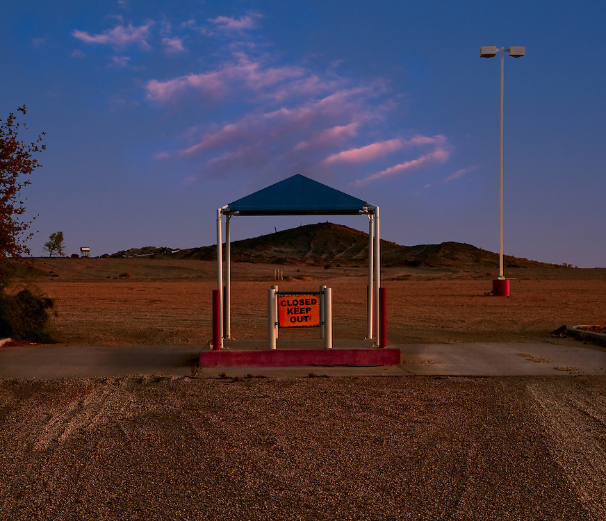 Abandonded Water Park along I-15 in Newberry Springs, California