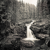 Silver Falls on the Ohanapecosh River in Mt. Rainier National Park, WA.<br />