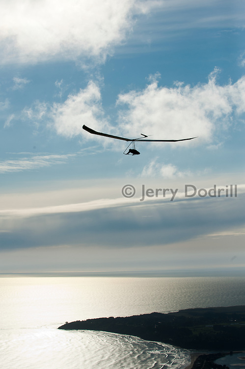 Hang Glider above Bolinas Ridge on Mt. Tamalpais, Marin County California