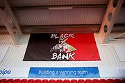 A fan banner of Doncaster Rovers before the EFL Sky Bet League 1 match between Doncaster Rovers and Blackpool at the Keepmoat Stadium, Doncaster, England on 17 September 2019.