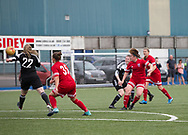 Forfar Farmington's Laura Parsley fires home a 20 yard goal for her side's 94th minute equaliser - Jeanfield Swifts Girls v Forfar Farmington in SWPL2<br /> <br /> <br />  - &copy; David Young - www.davidyoungphoto.co.uk - email: davidyoungphoto@gmail.com