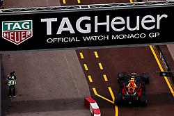 May 24, 2018 - Montecarlo, Monaco - 33 Max Verstappen Max from Netherlands Aston Martin Red Bull Tag Heuer RB14 behind a TahHeuer banner during the Monaco Formula One Grand Prix  at Monaco on 24th of May, 2018 in Montecarlo, Monaco. (Credit Image: © Xavier Bonilla/NurPhoto via ZUMA Press)