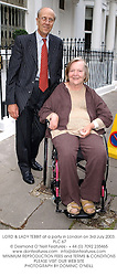 LORD & LADY TEBBIT at a party in London on 3rd July 2003.<br /> PLC 67