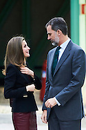 King Felipe of Spain, Queen Letizia of Spain visits CNIC (National Center for Cardiovascular Research Foundation) on February 9, 2017 in Madrid, Spain