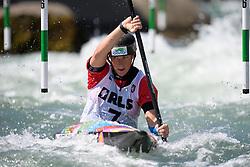 Katerina KUDEJOVA of Czech Republic during the Canoe Single (WK1) Womens Semi Final race of 2019 ICF Canoe Slalom World Cup 4, on June 28, 2019 in Tacen, Ljubljana, Slovenia. Photo by Sasa Pahic Szabo / Sportida