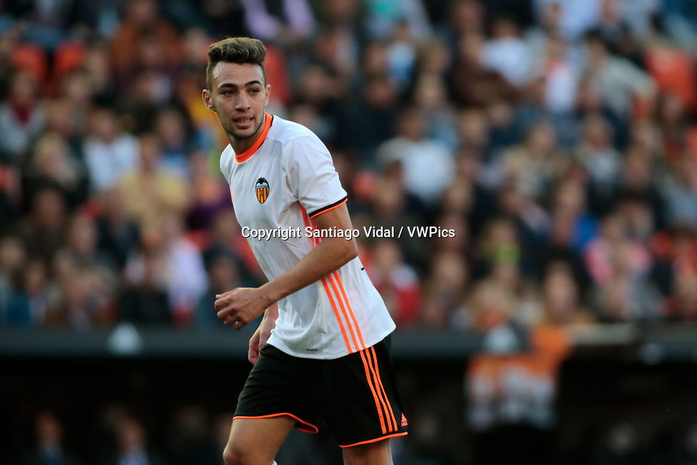 Valencia CF vs Deportivo La Coruña - La Liga MAtchday 29 - Estadio Mestalla, in action during g the game -- Munir Al HAddadi striker for VAlencia CF