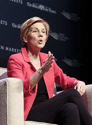 March 30, 2019 - Storm Lake, IOWA, USA - Democratic candidate Sen. ELIZABETH WARREN (D-MA)  speaks during the Heartland Forum which is focused on the family farmer and rural Iowa issues at the Schaller Memorial Chapel on the campus of Buena Vista University in Storm Lake, Iowa Saturday, March 30, 2019. (Credit Image: © Jerry Mennenga/ZUMA Wire)