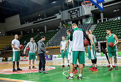 Saso Filipovski, head coach of basketball club Stelmet BC Zielona Gora (POL) during practice session of his team, on January 21, 2016 in CRS Hala Zielona Góra, Zielona Gora, Poland. Photo by Vid Ponikvar / Sportida