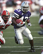 Kansas State runningback Darren Sproles (43) during game action against Western Kentucky at KSU Stadium in Manhattan, Kansas in 2002.