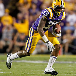 September 10, 2011; Baton Rouge, LA, USA;  LSU Tigers wide receiver Odell Beckham (33) against the Northwestern State Demons during the first half at Tiger Stadium.  Mandatory Credit: Derick E. Hingle