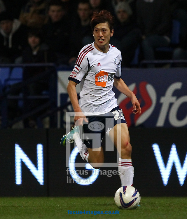 Picture by John Rainford/Focus Images Ltd +44 7506 538356.02/04/2013.C Y Lee of Bolton Wanderers during the npower Championship match at the Reebok Stadium, Bolton.