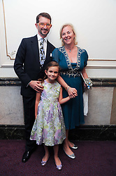 COUNT & COUNTESS MANFREDI DELLA GHERARDESCA and their daughter MARGARITA  at the Yota launch of Mikhailovsky Ballet's Swan Lake held at the London Coliseum, St.Martin's Lane, London on 13th July 2010.