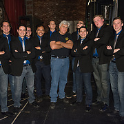 UNH all male a cappella group Not Too Sharp back stage with Jay Leno at The Music Hall in Portsmouth, NH June 3, 2017