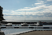 Few boats remain in the water at Chaudoir's Dock in mid-October, as many recreational boaters and big-water anglers have winterized and stored their craft. The brutal winds of winter will soon turn this westward-facing marina into a profoundly inhospitable place.