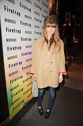 OPHELIA LOVIBOND at a party to celebrate the Firetrap Watches and Kate Moross Collaboration Launch, held at Firetrap, 21 Earlham Street, London, UK on 13th October 2010.