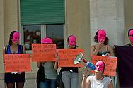 Roma 22 Maggio 2014<br /> Dopo 36 anni dall'approvazione  delle legge 194 sull'aborto , un gruppo di attiviste e giovani donne, hanno  manifestato all'ospedale Policlinico Umberto I,  contro i medici obiettori, per un aborto libero gratuito e garantito e per una sensualit&agrave; consapevole e autodeterminata.<br /> Rome May 22, 2014 <br /> After 36 years of the approval of Law 194 on abortion, a group of activists and young women , protested  at  hospital Policlinico Umberto I, against the physicians objectors,  for a free and guaranteed free abortion and for an aware sensuality and self-determined.