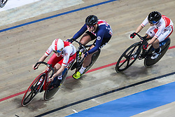 March 1, 2019 - Pruszkow, Poland - Daria Pikulik (POL) Jennifer Valente (USA)  omnium tempo race on day three of the UCI Track Cycling World Championships held in the BGZ BNP Paribas Velodrome Arena on March 01, 2019 in Pruszkow, Poland. (Credit Image: © Foto Olimpik/NurPhoto via ZUMA Press)