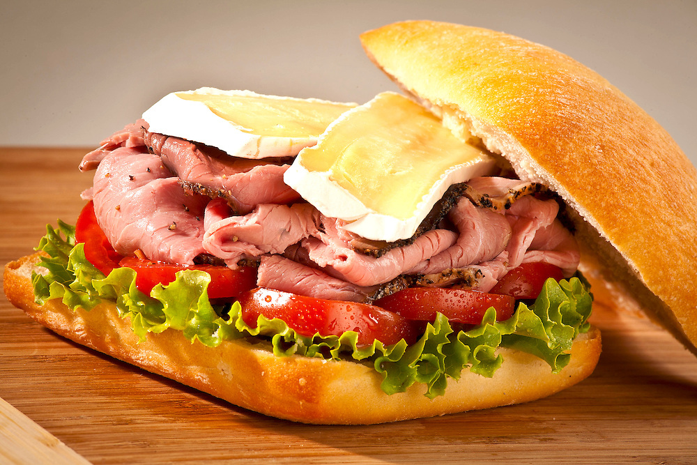 Roast Beef/Brie/lettuce/tomato,food photographer,miami,<br />