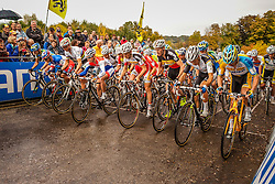 Men Elite start - Valkenburg, Netherlands - Cyclo-cross World Cup #1 Valkenburg - 20th October 2013