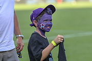 A young soccer fan during an International Champions Cup game, Saturday, July 20, 2010, in Charlotte, NC. Arsenal defeated Fiorentina 3-0. (Brian Villanueva/Image of Sport)