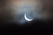 09.19 March 2015 Solar eclipse, partial eclipse of the sun, rare natural phenomenon seen from Burford, The Cotswolds, England UK