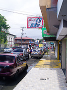 Midday street scene in Limon, Limon, Costa Rica