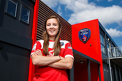 Caroline Weir poses for a portrait - Mandatory byline: Rogan Thomson/JMP - 07966 386802 - 09/07/2015 - SPORT - Football - Bristol, England - SGS Wise Campus, Filton - Bristol Academy Womens FC New Signings.